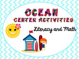 Summer/Ocean Themed Center Packet: Literacy and Math Activities