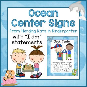Ocean Classroom Decor: Center Signs