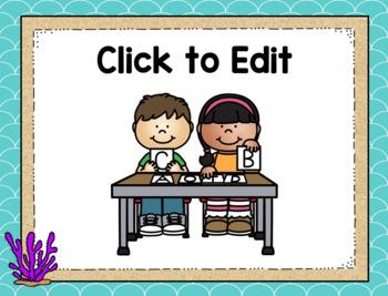 Ocean Themed Center Signs-Classroom Decor