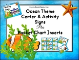 Ocean Themed Center Signs &  Pocket Chart Inserts