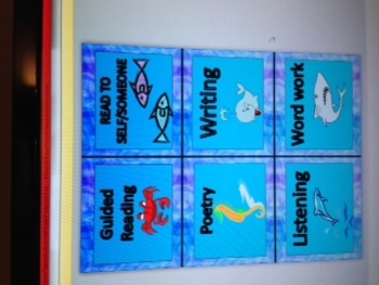 Ocean Themed Center Tags and Compliment Board