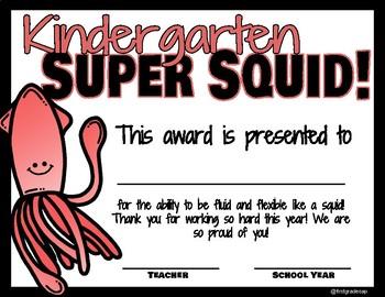 Ocean Themed Class Awards