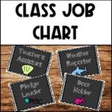 Ocean Themed Class Job Chart