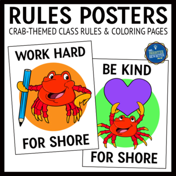 Ocean Theme Class Rules Posters