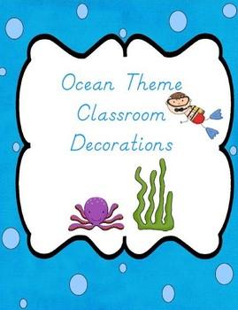 Ocean Themed Classroom Bundle