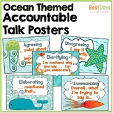 Ocean Themed Classroom Decor: Accountable Talk Posters
