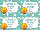 Ocean Themed Classroom Decor: Editable Post Cards