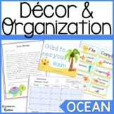 Ocean Themed Classroom Decor and Organization
