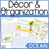 Ocean Classroom Decor and Organization Bundle