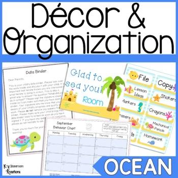 Ocean Themed Classroom Decor and Organization