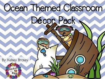Ocean Themed Classroom Decor Pack