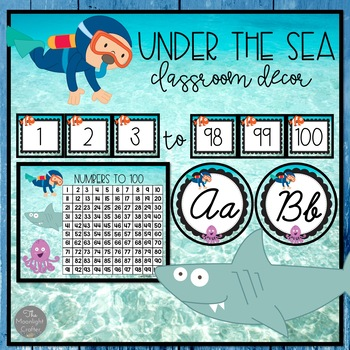 Ocean Themed Classroom Decor Set 2