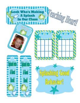 Ocean Themed Classroom Calendar, Decor, Forms, Displays (many files editable)