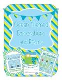Ocean Themed Classroom Calendar, Decor, Forms, Displays (m