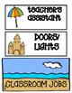 Ocean Themed Classroom Job Chart