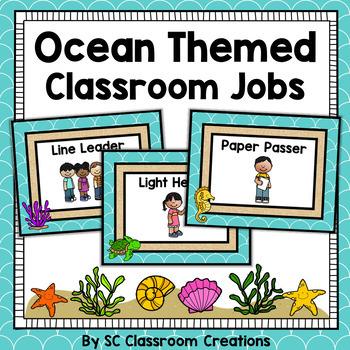 Ocean Themed Classroom Jobs- Classroom Decor