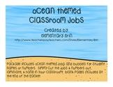 Ocean Themed Classroom Jobs Set