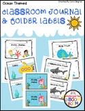 Classroom Journal Labels - Ocean themed