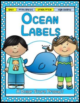 Ocean Themed Classroom Labels - EDITABLE