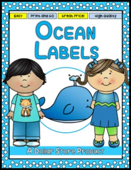 Ocean Themed Classroom Labels - EDITABLE