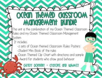 Ocean Themed Classroom Management Bundle