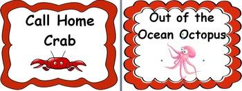 Ocean Theme Clip Chart