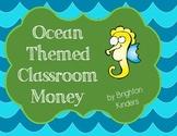 Ocean Themed Classroom Money System & Rules