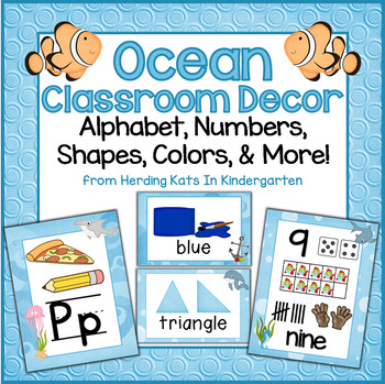 Ocean Themed Classroom Poster Bundle