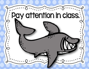 Ocean-Themed Classroom Rules Posters