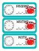 Ocean Themed Classroom Schedule