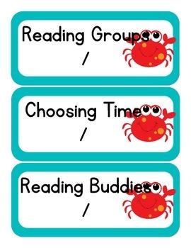 Ocean Themed Classroom Schedule pt. 2