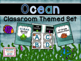 Ocean Themed Classroom Set with Editables {ABC & Number Line included}
