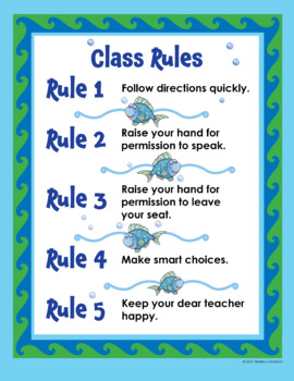 Ocean-Themed Classroom Signs