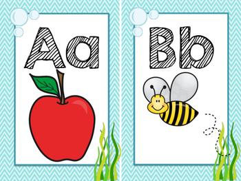Ocean Themed Classroom alphabet