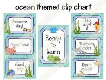 Clip Chart: Ocean Themed