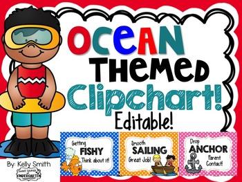 Ocean Themed Clipchart - EDITABLE!