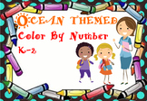 Ocean Themed Color By Number K-2 (editable)