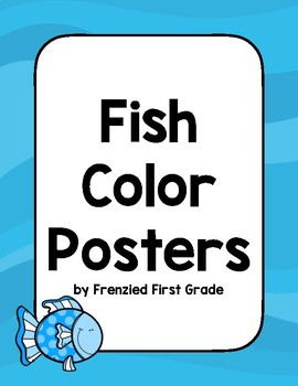 Ocean Themed Color Posters