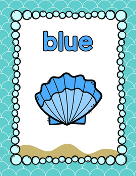 Ocean Themed Color Posters- Classroom Decor