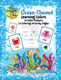 Ocean-Themed Color Posters and Coloring Activity Pages