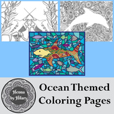Hand-Drawn Ocean Themed Coloring Pages