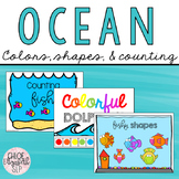 Ocean Themed Colors, Shapes, and Counting Books!