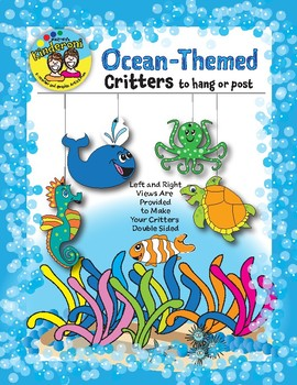 Ocean-Themed Critters to Post or Hang in Classroom