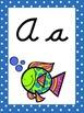 Ocean Themed Cursive Alphabet Wall Display