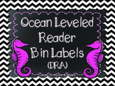 Ocean Themed DRA Leveled Reader Labels (Chevron Collection)