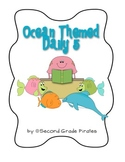 Ocean Themed Daily 5 Signs- Big and Small