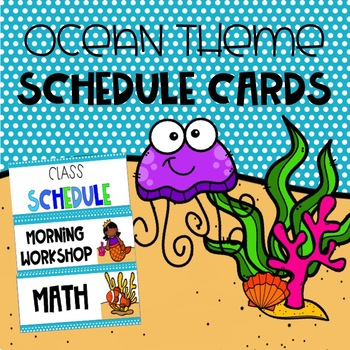 Ocean Themed Daily Schedule Cards