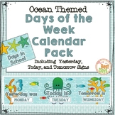 Ocean Themed Days of the Week Calendar Pack