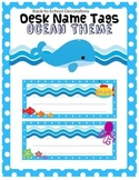Ocean Themed Desk Name Tags