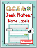 Ocean Themed Classroom Decor Desk Plates